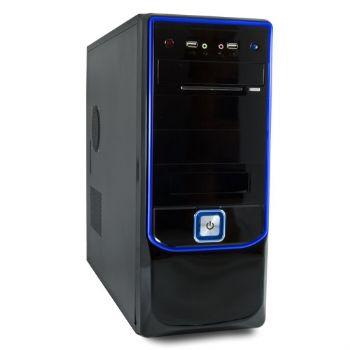 Caja Atx 6400 3go Negra Azul  500w 24pin 12cm