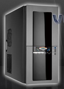 Caja Atx Vespera 3go Negro - Gris  Led  E-sata