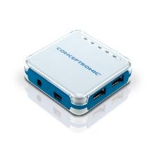 Hub Externo Conceptronic Usb 20 Azul 4 Puertos Compatible Usb 11