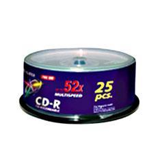 Cd Virgen Cd-r 700mb Fujifilm 52x Tarrina 25 Ud