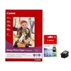 Multipack Canon Cl-511 Papel Gp501 Mx330