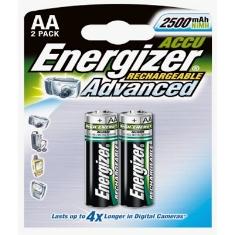 Blister Energizer Dos Pilas Aa Recargables Hr-6 2450mah Clasica 12v