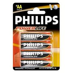 Blister Philips Cuatro Pilas Aa Alcalinas Lr6 Powerilife 15v