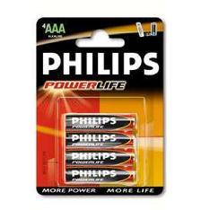 Blister Philips Cuatro Pilas Aaa Alcalina Lr03 15v Powerilife