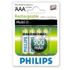 Blister Philips Cuatro Pilas Aaa Recargable R03nm 900mah Multilife Nimh 12v