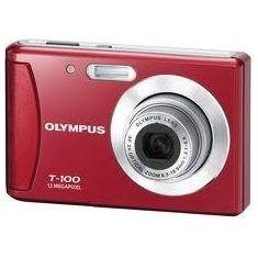 Camara Digital Olympus T100 Roja    Funda 12 Mp Zo X3 Lcd 24 Lito