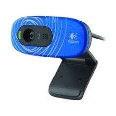 Camara Webcam Logitech C270 Hd 720p 3mp Blue Swirl Azul
