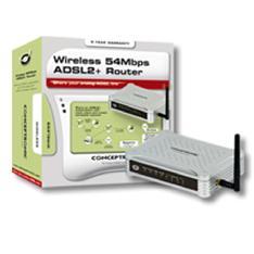 Router Modem Wifi  54mbps Adsl 2    4 Puertos Para Linea Analogica  Conceptronic