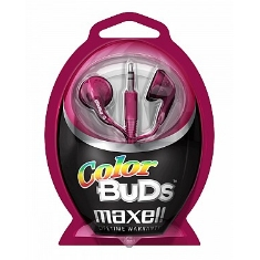 Auriculares Color Bud Maxell  Rojo