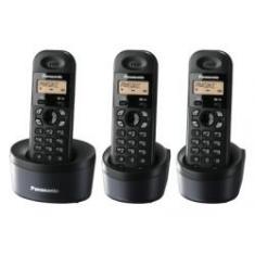 Telefono Inalambrico Digital Dect Panasonic Kx-tg1313sph  Trio  Negro
