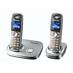 Telefono Inalambrico Digital Dect Panasonic Kx-tg8012sps  Duo Lcd Color  Gap  Agenda De 200 Numeros