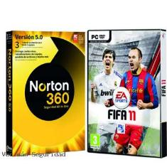 Antivirus Norton 360 3 Usuarios   Fifa 2011 Regalo