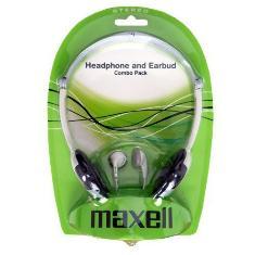 Auriculares Combo-pack Maxell Auricular De Arco Plegable   Auricular De Boton
