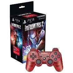 Juego Ps3 - Infamous 2   Mando Dual Shock Rojo
