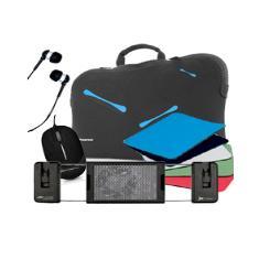 Kit Funda Sleeve Phstockholm15   Soporte Portatil Phjetcooler   Mini Mouse Ph1010   Auriculares Boton Phds039   Alfombri