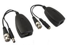Videovigilancia Adaptador  Trans Recep Pasivo Alim Audio Para Cable Utp Cat 5
