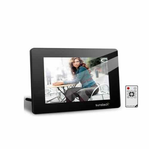 Marco Digital 7 Sunstech 702 Sdusb Multimedia Mando A Distancia Negro