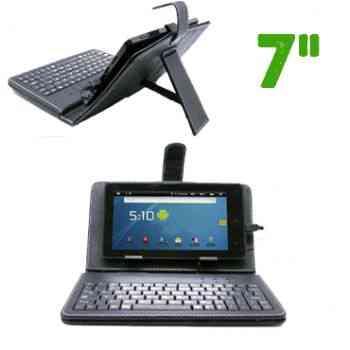 Funda Tablet 7 Con Teclado Usb Negra