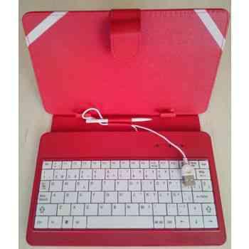 Funda Tablet 7 Con Teclado Usb Roja