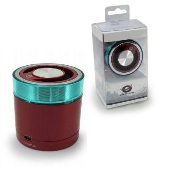 Altavoces Conceptronic Portable Bluetooth Granate