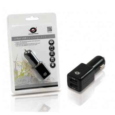 CARGADOR USB CONCEPTRONIC COCHE 42A 2PUERTOS