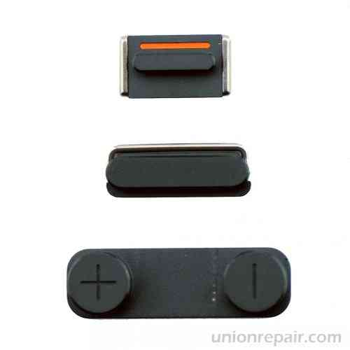 Repuesto Iphone 5 Set De Botones Negros