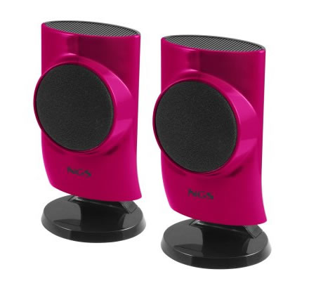 Ngs Pink Hatch 20 Altavoces 4w Pc Usb Rosa