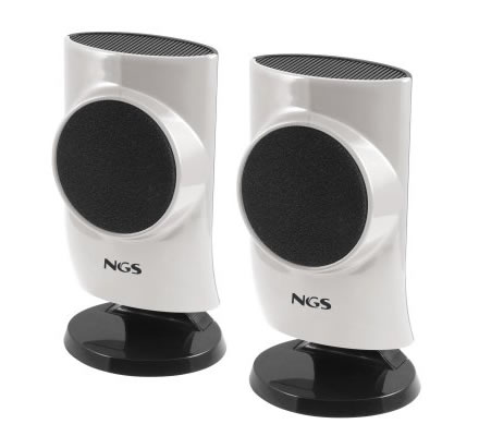 Ngs Silver Hatch 20 Altavoces 4w Pc Usb Plata