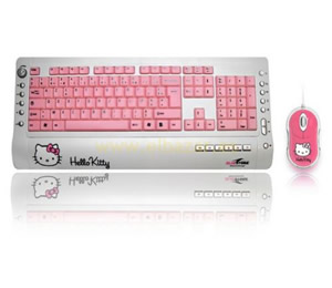 Teclado Raton Hello Kitty