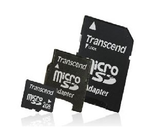 Tarjeta Memoria Micro Secure Digital Sd 2gb Transcend Mas Adaptador