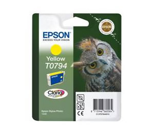Cartucho De Tinta Epson Amarillo T0794  Stylus Photo 1400