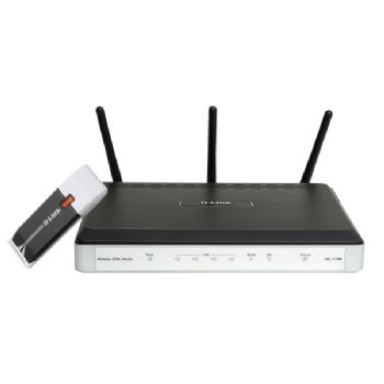 Wifi Bundle Router Dsl-2740 Adaptador Usb Dwa-140