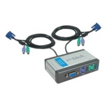 Ver DATA SWITCH KVM 2X1 D-LINK MON TEC RAT IN CABLES