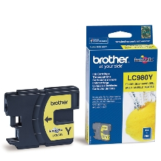 Cartucho Tinta Brother Amarillo Lc980y 260 Paginas Dcp-195c Dcp-375cw Mfc-250c Mfc-255cw Mfc-290c