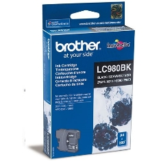 Cartucho Tinta Brother Negro Lc980bk 300 Paginas  Dcp-165c Dcp-195c Dcp-375cw Mfc-250c Mfc-255cw