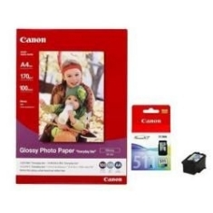 Multipack Canon Cl-511 Papel Gp501 Mx330