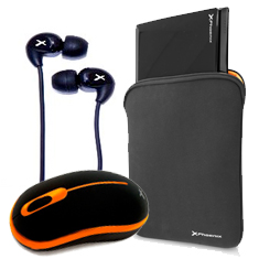 Kit Funda Sleeve Phmunich10   Mouse Phoenix Wireless Phm9179n   Auriculares Boton Phdsh15
