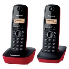 TELEFONO INALAMBRICO PANASONIC KX-TG1612SPR  DUO ROJO