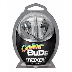 Auriculares Color Bud Maxell  Plata