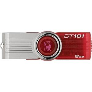 Ver MEMORIA USB 8GB KINGSTON DATATRAVELER 101 G2 ROJA
