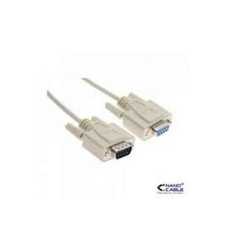 CABLE SERIE NULL MODEM DB9M DB9H 1 8 M NANOCABLE 10140502