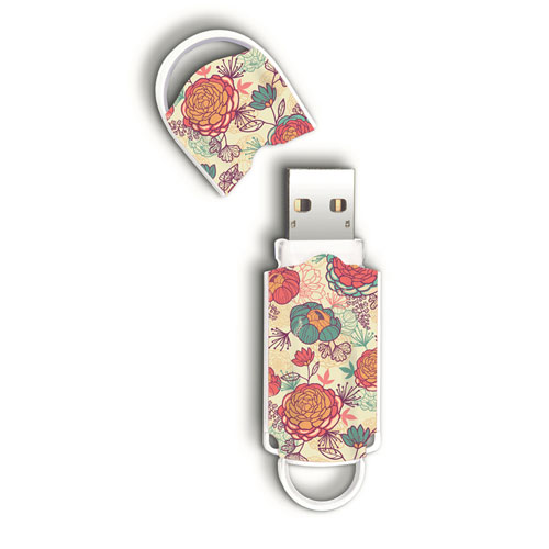 Hd Portatil Usb  8gb Integral Xpression Floral  Infd8gbxprfloral