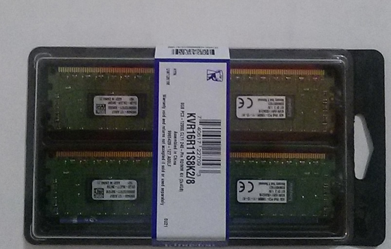Ver Kingston Technology ValueRAM 16GB DDR3 1600