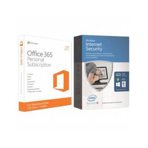 Ver MICROSOFT OEM OFFICE 365 PERSONAL 1 ANO  MCAFEE INTERNET SECURITY LIC ILIMITADA
