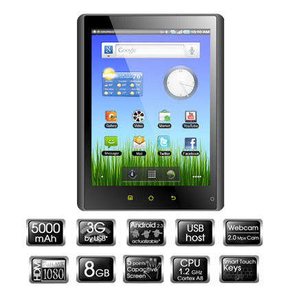 Tablet Pc Woxter Pc85 Cx 8g Tb26-011