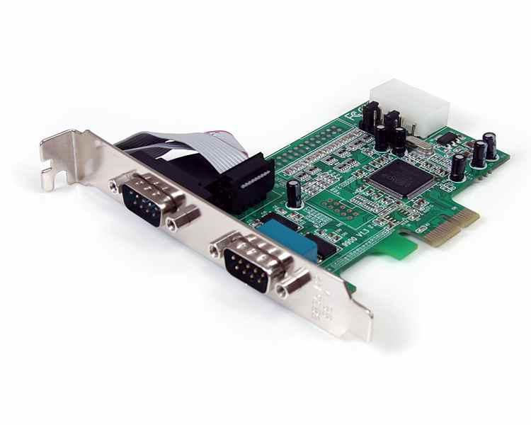 Tarjeta Adaptadora PCI Express Nativo de 2 Puertos Serie RS232 con UART 16550