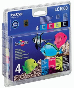Cartucho Negro   3 Colores Brother Lc1000