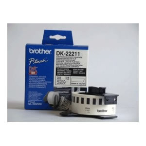 Ver CINTA CONTINUA BLANCA 29MM BROTHER DK-22211