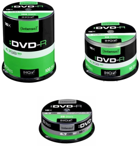 Ver DVD-R 47GB 16XSPEED PRINTABLE CAKE BOX 25