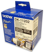 Ver ETIQUETA PRECORTADA BROTHER PAPEL 62x100mm